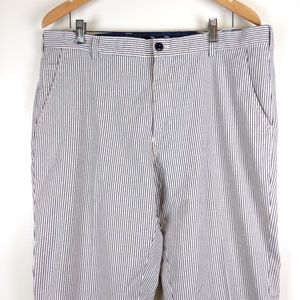 Brooks Brothers Striped Pants White and Blue